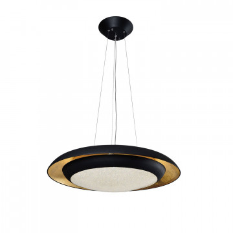 Подвесной светильник с пультом ДУ Favourite Spiegel 2114-1P 3000K (теплый), черный, белый, матовое золото, металл, пластик