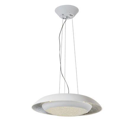 Подвесной светодиодный светильник с пультом ДУ Favourite Spiegel 2115-1P, LED 31W 3000K, белый, серебро, металл, металл с пластиком, пластик