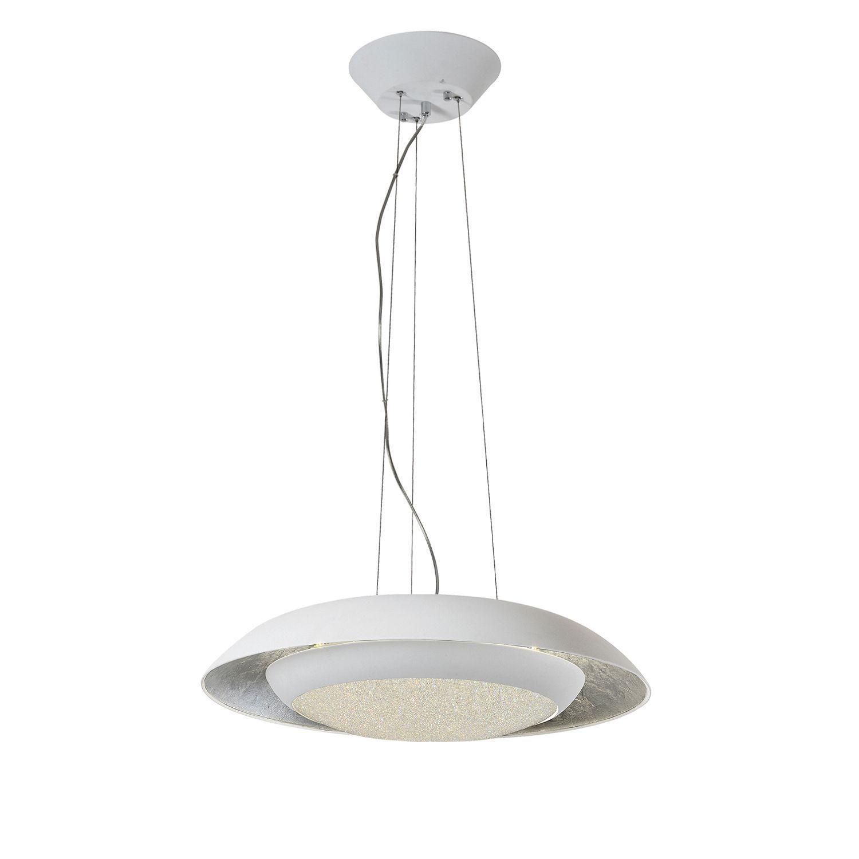 Подвесной светильник с пультом ДУ Favourite Spiegel 2115-1P 3000K (теплый), белый, серебро, металл, пластик - фото 1