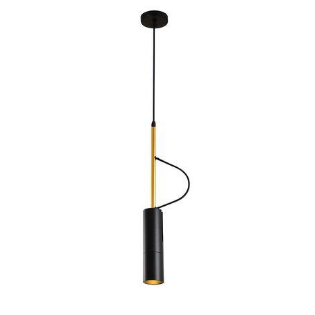 Подвесной светильник с регулировкой направления света Favourite Tube 2107-1P, золото, черный, металл