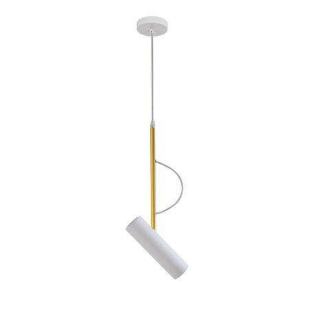 Подвесной светильник с регулировкой направления света Favourite Tube 2108-1P, белый, золото, металл
