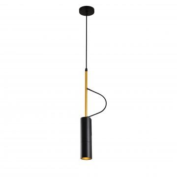 Подвесной светодиодный светильник с регулировкой направления света Favourite Tube 2107-1P, LED 5W, золото, черный, металл