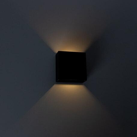 Настенный светодиодный светильник Arte Lamp Instyle Algol A1445AL-1BK, IP54, LED 2W 3000K 170lm CRI≥70, черный, пластик