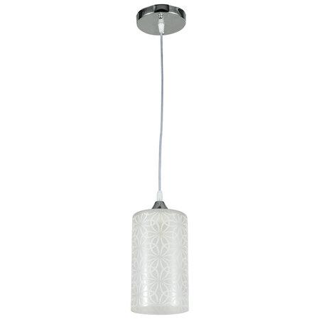 Подвесной светильник Arte Lamp Bronn A1771SP-1CC, 1xE27x60W, хром, белый, металл, стекло