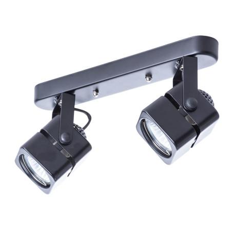 Потолочный светильник с регулировкой направления света Arte Lamp Misam A1315PL-2BK, 2xGU10x50W, черный, металл