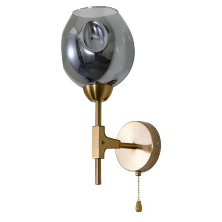 Бра Arte Lamp Yuka A7759AP-1PB, 1xE27x60W, медь, дымчатый, металл, стекло