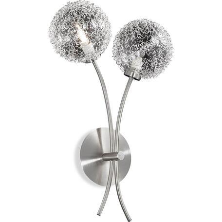 Бра Lumion Roxby 2460/2W, 2xG9x40W, никель, прозрачный, металл, стекло