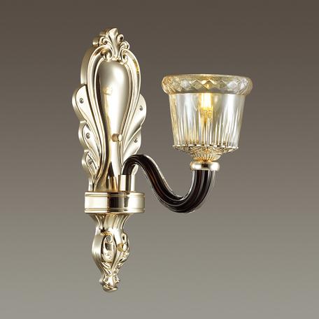 Бра Odeon Light Giovanni 4000/1W, 1xE14x40W, золото, черный, янтарь, металл, стекло