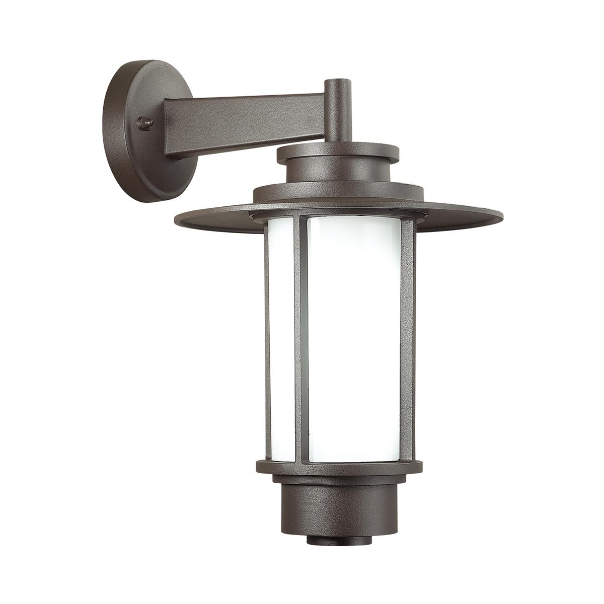 Настенный фонарь Odeon Light Nature Mito 4047/1W, IP54, 1xE27x18W, коричневый, металл, металл с пластиком - фото 1