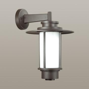Настенный фонарь Odeon Light Nature Mito 4047/1W, IP54, 1xE27x18W, коричневый, металл, металл с пластиком - миниатюра 2