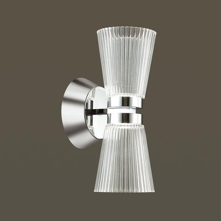 Настенный светодиодный светильник Odeon Light Grana 4013/14WL, LED 14W, 4000K (дневной), хром, прозрачный, металл, пластик - миниатюра 1