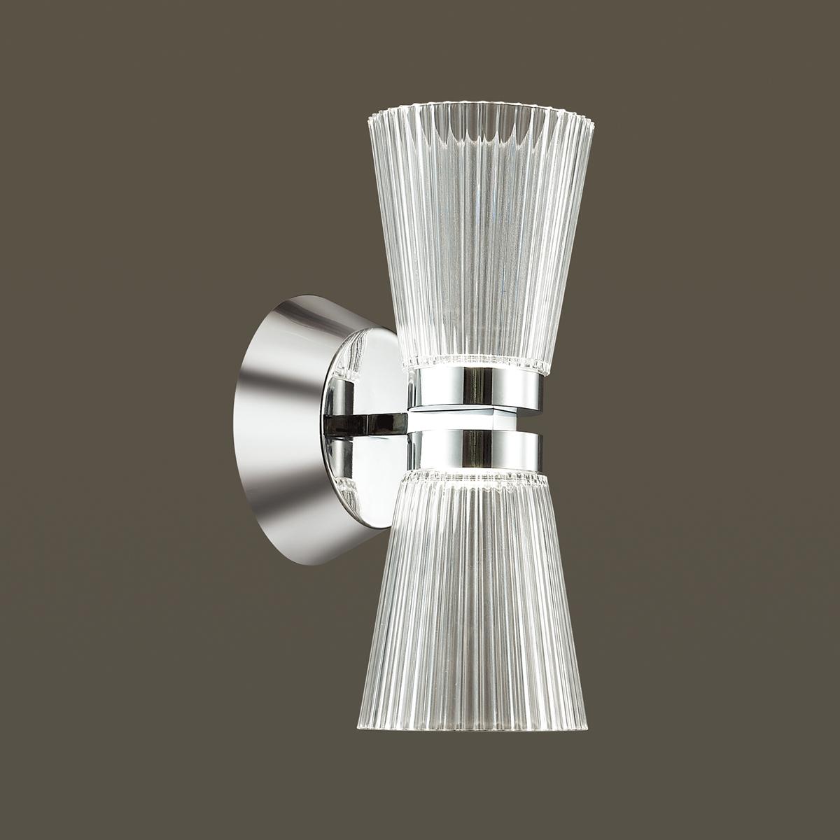 Настенный светодиодный светильник Odeon Light Grana 4013/14WL, LED 14W, 4000K (дневной), хром, прозрачный, металл, пластик - фото 1