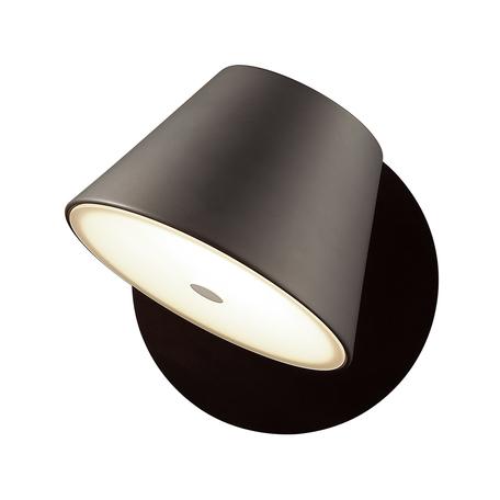 Настенный светильник с регулировкой направления света Odeon Light Charlie 3990/1W, 1xG9x40W, черный, металл, стекло
