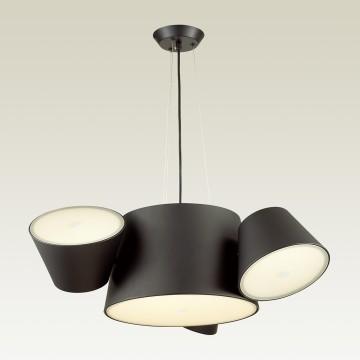 Подвесная люстра Odeon Light Charlie 3990/4, 3xE14x40W +  6xG9x40W, черный, металл, стекло - миниатюра 1