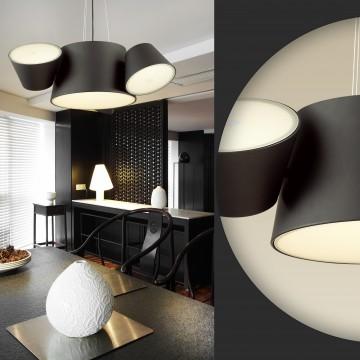 Подвесная люстра Odeon Light Charlie 3990/4, 3xE14x40W +  6xG9x40W, черный, металл, стекло - миниатюра 3