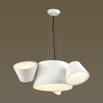 Подвесная люстра Odeon Light Charlie 3991/4, 3xE14x40W +  6xG9x40W, белый, металл, стекло
