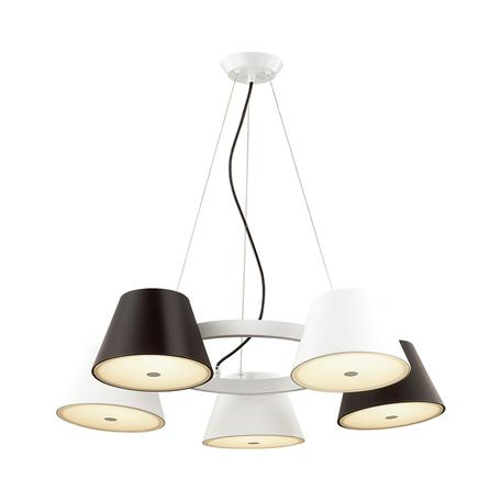 Подвесная люстра Odeon Light Charlie 3992/5, 10xG9x40W, белый, черный, черно-белый, металл, стекло