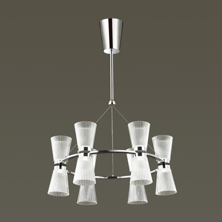 Подвесная светодиодная люстра Odeon Light Grana 4013/61L, LED 61W, 4000K (дневной), хром, прозрачный, металл, пластик