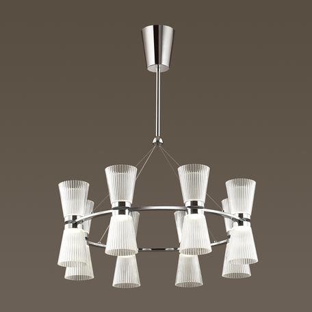 Подвесная светодиодная люстра Odeon Light Grana 4013/81L, LED 81W, 4000K (дневной), хром, прозрачный, металл, пластик