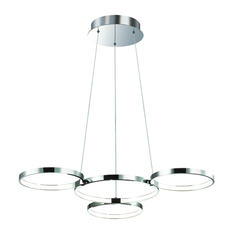 Подвесная светодиодная люстра Odeon Light Olimpo 4016/36AL, LED 36W, 4000K (дневной), хром, металл, пластик