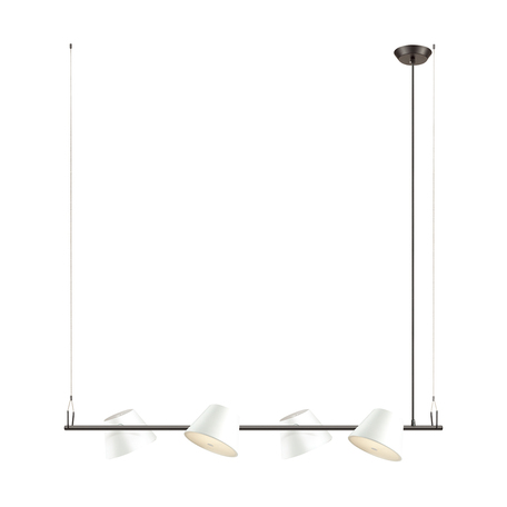 Подвесной светильник Odeon Light Charlie 3991/4A, 4xG9x40W, черный, белый, металл, стекло
