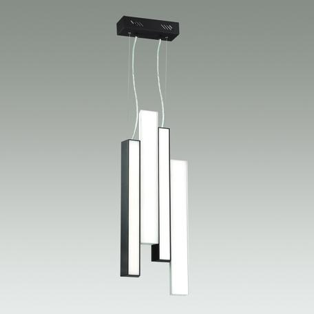 Подвесной светодиодный светильник Odeon Light L-Vision Piano 4014/71L, LED 71W 4000K 2000lm, черный, белый с черным, металл, металл с пластиком, пластик