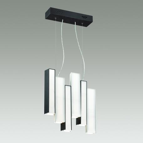 Подвесной светодиодный светильник Odeon Light Piano 4014/99AL 4000K (дневной), черный, белый, металл, пластик