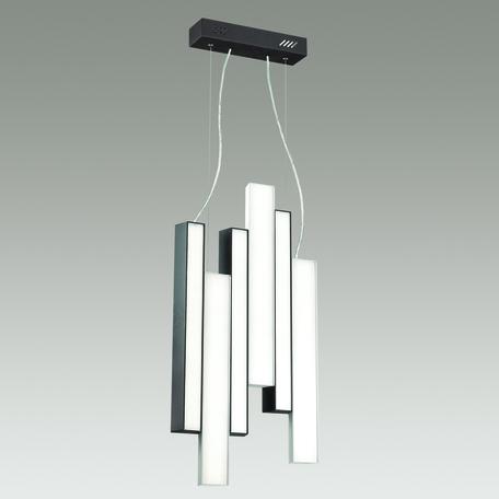 Подвесной светодиодный светильник Odeon Light Piano 4014/99L, LED 109W, 4000K (дневной), черный, белый, металл, пластик