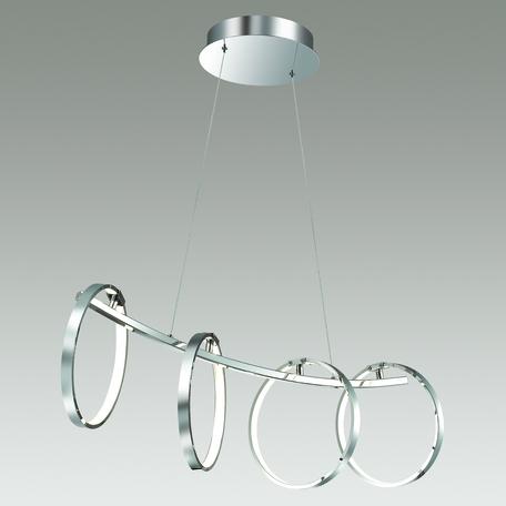 Подвесной светодиодный светильник Odeon Light L-Vision Olimpo 4016/34L, LED 34W 4000K 3000~3200lm, хром, металл, пластик