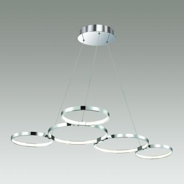 Подвесной светодиодный светильник Odeon Light Olimpo 4016/50L 4000K (дневной), хром, металл, пластик