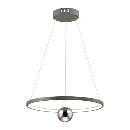 Подвесной светодиодный светильник Odeon Light Lond 4031/21L, LED 21W 3000K 1890lm, хром, металл, металл с пластиком, пластик, стекло