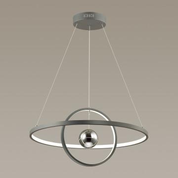 Подвесной светодиодный светильник Odeon Light L-Vision Lond 4031/40L, LED 40W 3000K 3600lm, темно-серый, хром, металл, пластик, стекло - миниатюра 2