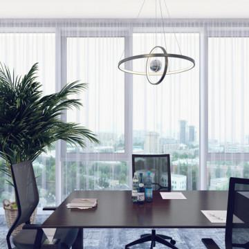 Подвесной светодиодный светильник Odeon Light L-Vision Lond 4031/40L, LED 40W 3000K 3600lm, темно-серый, хром, металл, пластик, стекло - миниатюра 3