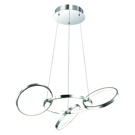 Подвесной светодиодный светильник Odeon Light Olimpo 4016/36L, LED 36W 4000K 3100~3700lm, хром, металл, металл с пластиком, пластик