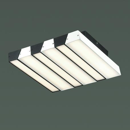 Потолочный светодиодный светильник Odeon Light L-Vision Piano 4015/46CL, LED 46W 4000K 1300lm, черный, белый, черно-белый, металл, металл с пластиком, пластик