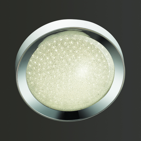 Потолочный светодиодный светильник Odeon Light Teno 4018/38CL, LED 38W, 4000K (дневной), белый, хром, прозрачный, металл, пластик - миниатюра 1