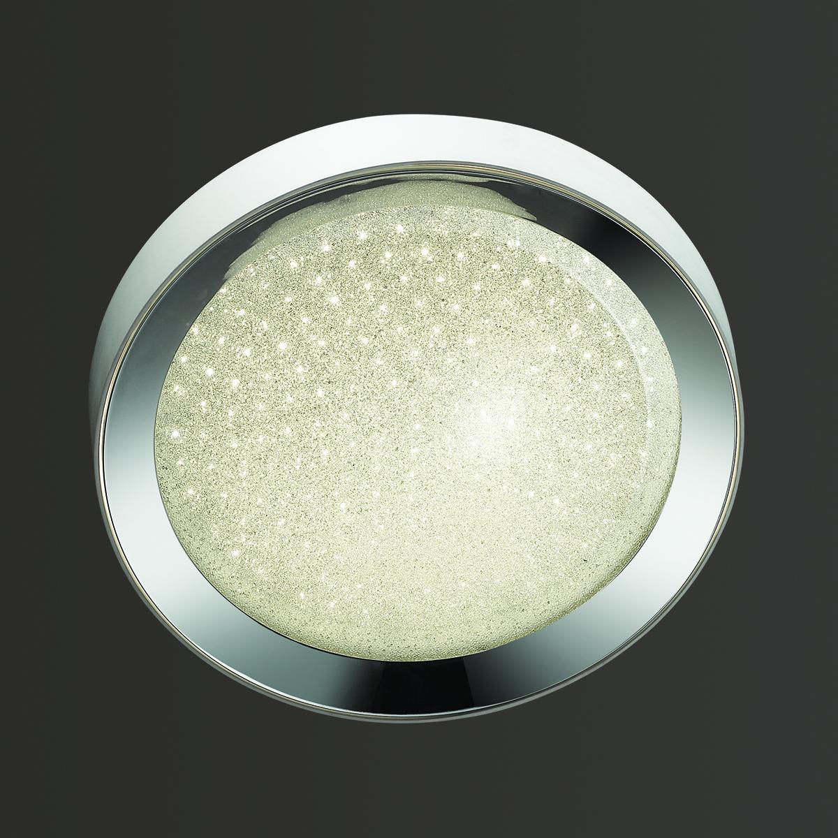 Потолочный светодиодный светильник Odeon Light Teno 4018/38CL, LED 38W, 4000K (дневной), белый, хром, прозрачный, металл, пластик - фото 1