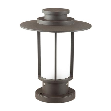 Садово-парковый светильник Odeon Light Nature Mito 4047/1B, IP54, 1xE27x18W, коричневый, металл, металл с пластиком