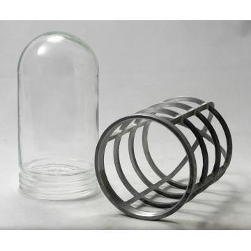 Бра Lussole Loft Thornton LSP-9988, IP21, 1xE27x60W, серый, прозрачный, металл, металл со стеклом - миниатюра 3
