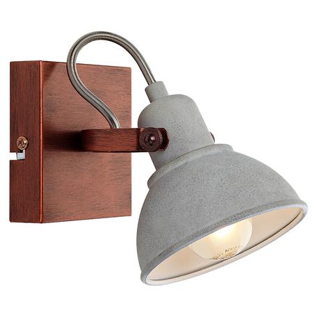 Настенный светильник Lussole Loft Durango LSP-9828, IP21, 1xE14x40W, медь, серый, металл