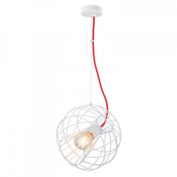 Подвесной светильник Lussole LGO Nampa LSP-9932, IP21, 1xE27x60W, белый, красный, металл