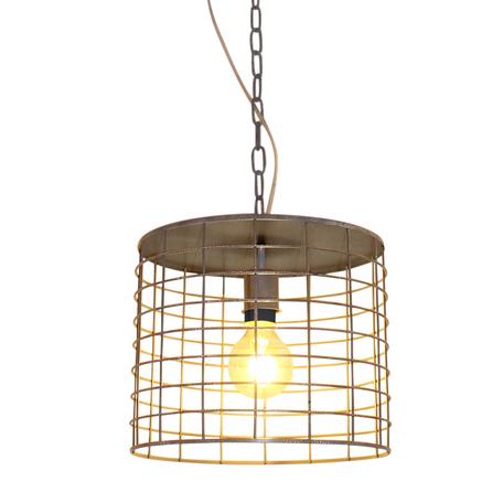 Подвесной светильник Lussole Loft Greeley LSP-9971, IP21, 1xE27x60W, серый, металл