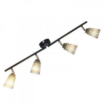 Потолочный светильник с регулировкой направления света Lussole LGO Avondale LSP-9901, IP21, 4xG9x40W, черный, хром, металл