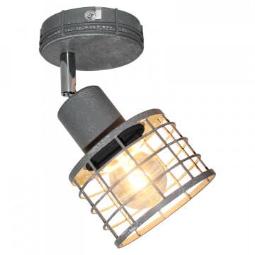 Потолочный светильник с регулировкой направления света Lussole Loft Greeley LSP-9968, IP21, 1xE27x60W, серый, металл