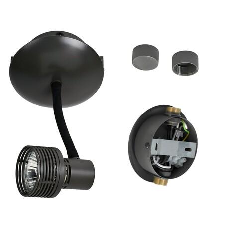 Светильник с регулировкой направления света для модульной системы Lussole Loft Bay Shore LSP-9821, IP21, 1xGU10x50W, черный, металл