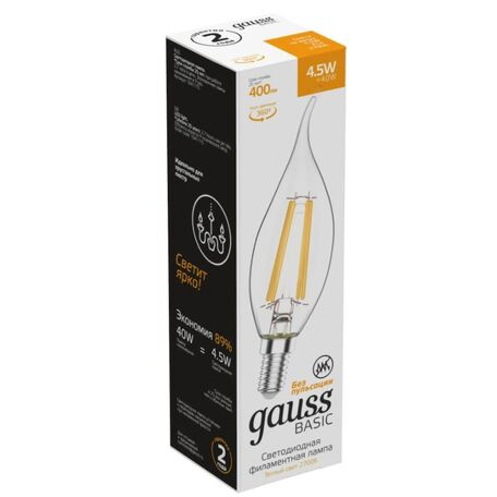 Филаментная светодиодная лампа Gauss 1041115