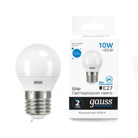 Светодиодная лампа Gauss 53130 E14 10W, 6500K (холодный)