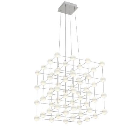 Подвесная светодиодная люстра ST Luce Atomo SL797.103.64 4000K (дневной), хром, белый, металл, пластик - миниатюра 1