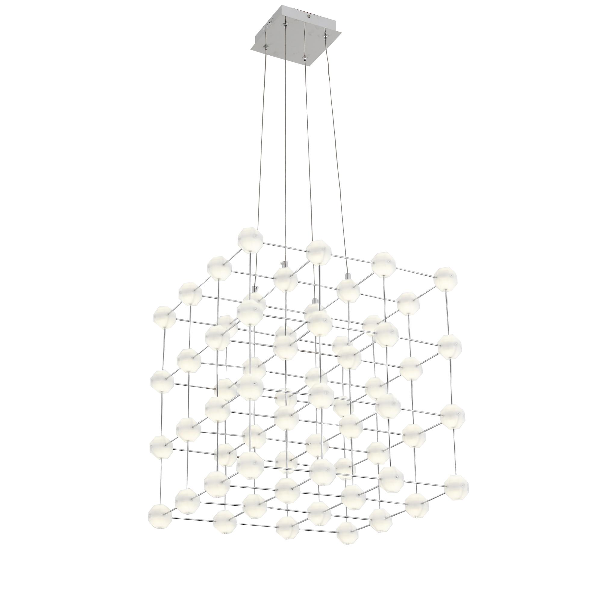 Подвесная светодиодная люстра ST Luce Atomo SL797.103.64, LED 38,4W 4000K, хром, металл - фото 1
