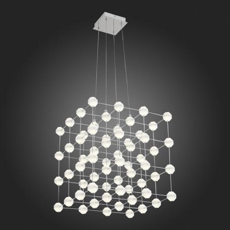 Подвесная светодиодная люстра ST Luce Atomo SL797.103.64 4000K (дневной), хром, белый, металл, пластик - миниатюра 3